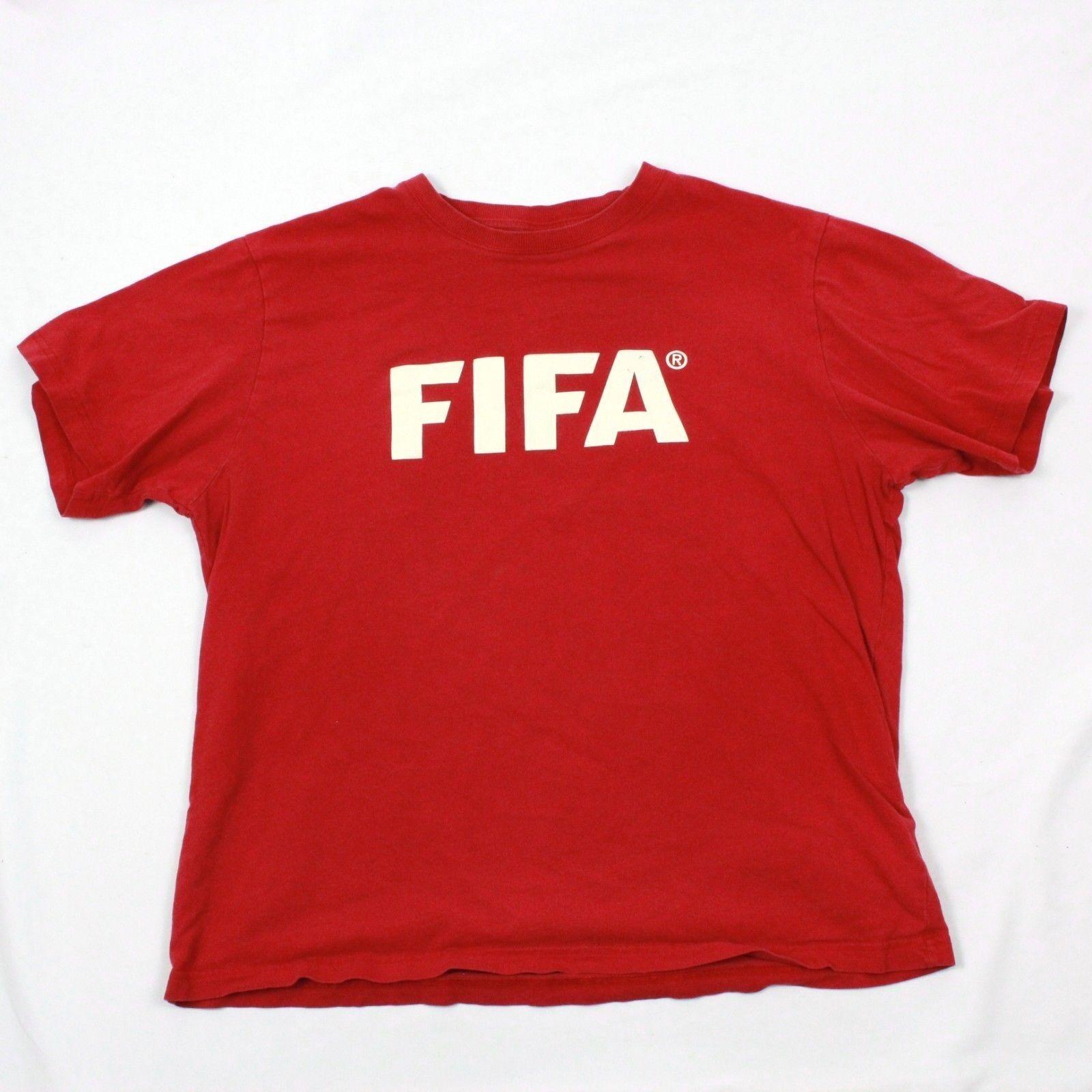 Vintage Fifa Fussball T-Shirt Extragroß Rot Fußballspieler Kurzärmlig Fußball T  | Spielzeugwelt, glücklich und grenzenlos  | Exquisite (in) Verarbeitung  | Deutschland München