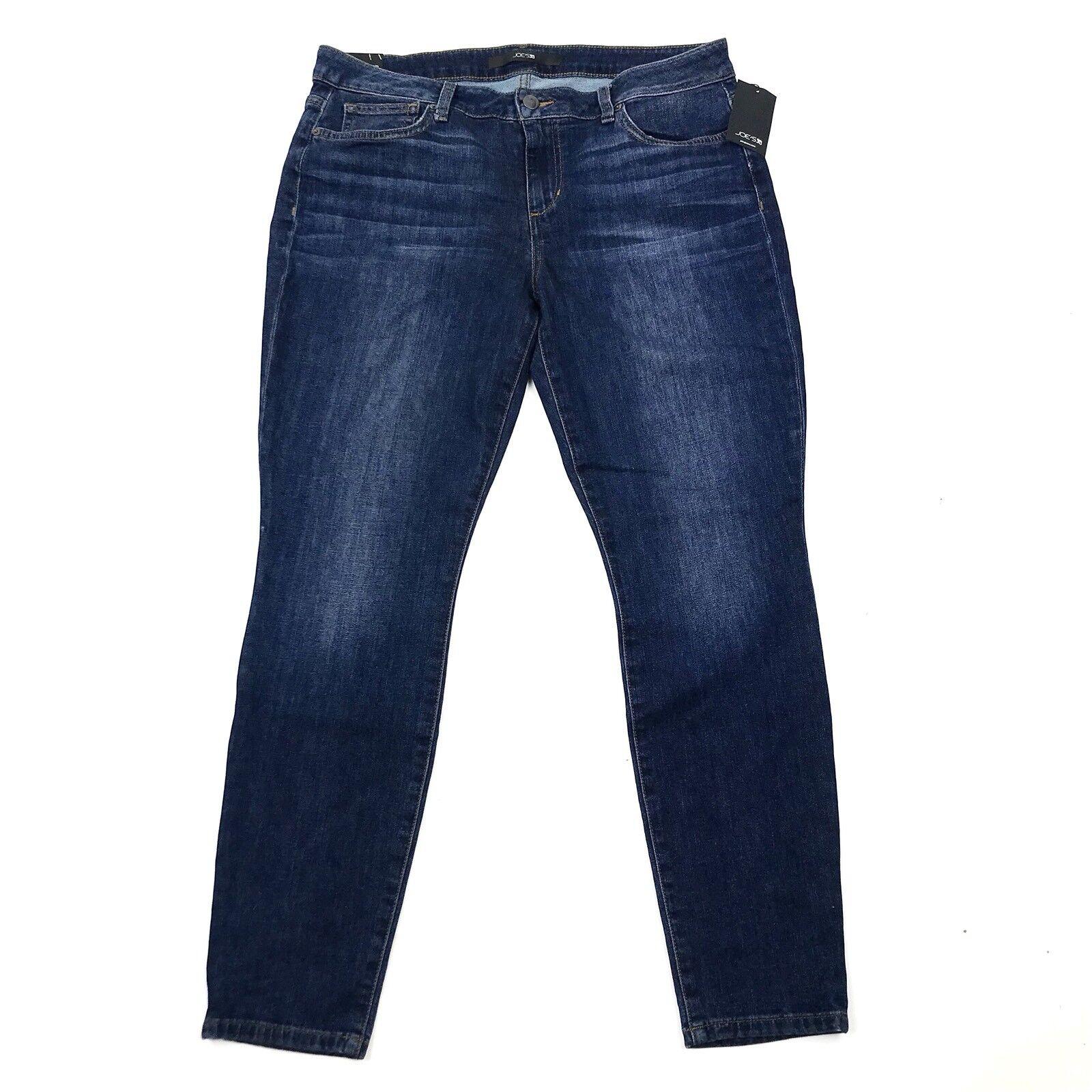 NWT Joe's Jeans Mid Rise Skinny Ankle Dark Wash Katrina Stretch Jeans Sz 32 FLAW