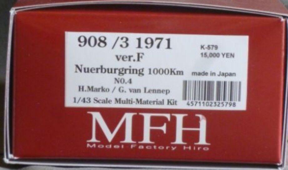 Modelo Factory Hiro 1 43 908 3 1971 Nurburgring 1000km Ver.f Fulldetail Kit