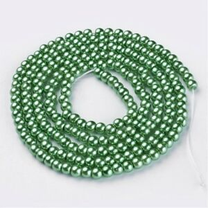 1 Strand 4mm Champagne Pearl Glass Pearls 216 Beads