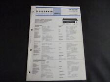 Original Service Manual Telefunken TR 300 Hifi