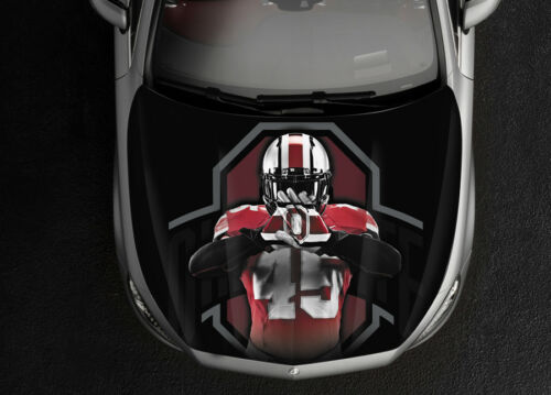 Ohio State Football Hood Color Vinyl Sticker Decal Wrap Fit Any Car