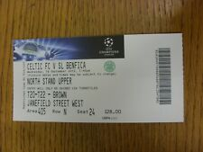 19/09/2012 Ticket: Celtic v Benfica [Champions League] . Thanks for viewing this