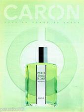 PUBLICITE ADVERTISING  026  2002  Caron   pafum pour un Homme
