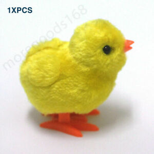 Walking Funny Clockwork Jumping Chicken Wind Up Toys Kids Gift Plush Animal
