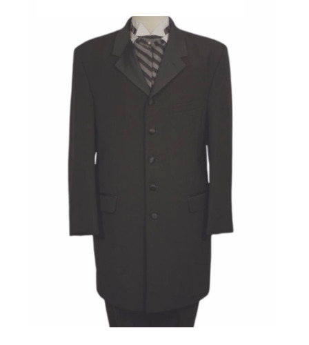 Nice Black 5 Button X LONG Country Western Duster Tuxedo Frock Tux Coat TUXXMAN