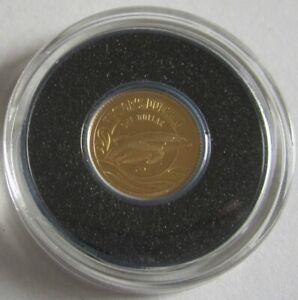 Neuseeland-1-Dollar-2016-Tiere-Hector-Delfin-Gold