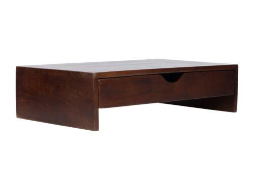 Laptopständer 60cm braun Schub Mango Holz Massivholz Büromöbel massivum Anyos