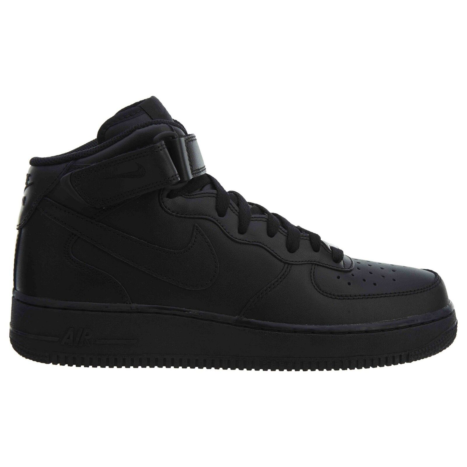 Nike Air Force 1 Mid '07 Mens 315123-001 Black Leather Athletic shoes Size 7