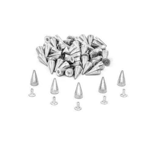 7mm X 13mm 50 Piezas De Cono de remaches prensa Tachuelas Clavos para Chaqueta de cuero artesanía Hazlo tú mismo