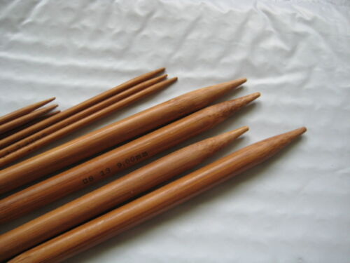 carbonized 15*5 10  bamboo Knitting needles double point  US 0-15  (75 needles)