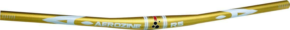 Aerozine XBR5 Lightweight Racing Alloy MTB Flat Handlebar 31.8mm 720mm R5 gold