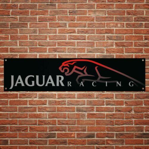 Jaguar Racing Banner Garage Workshop PVC Sign Trackside Car Display