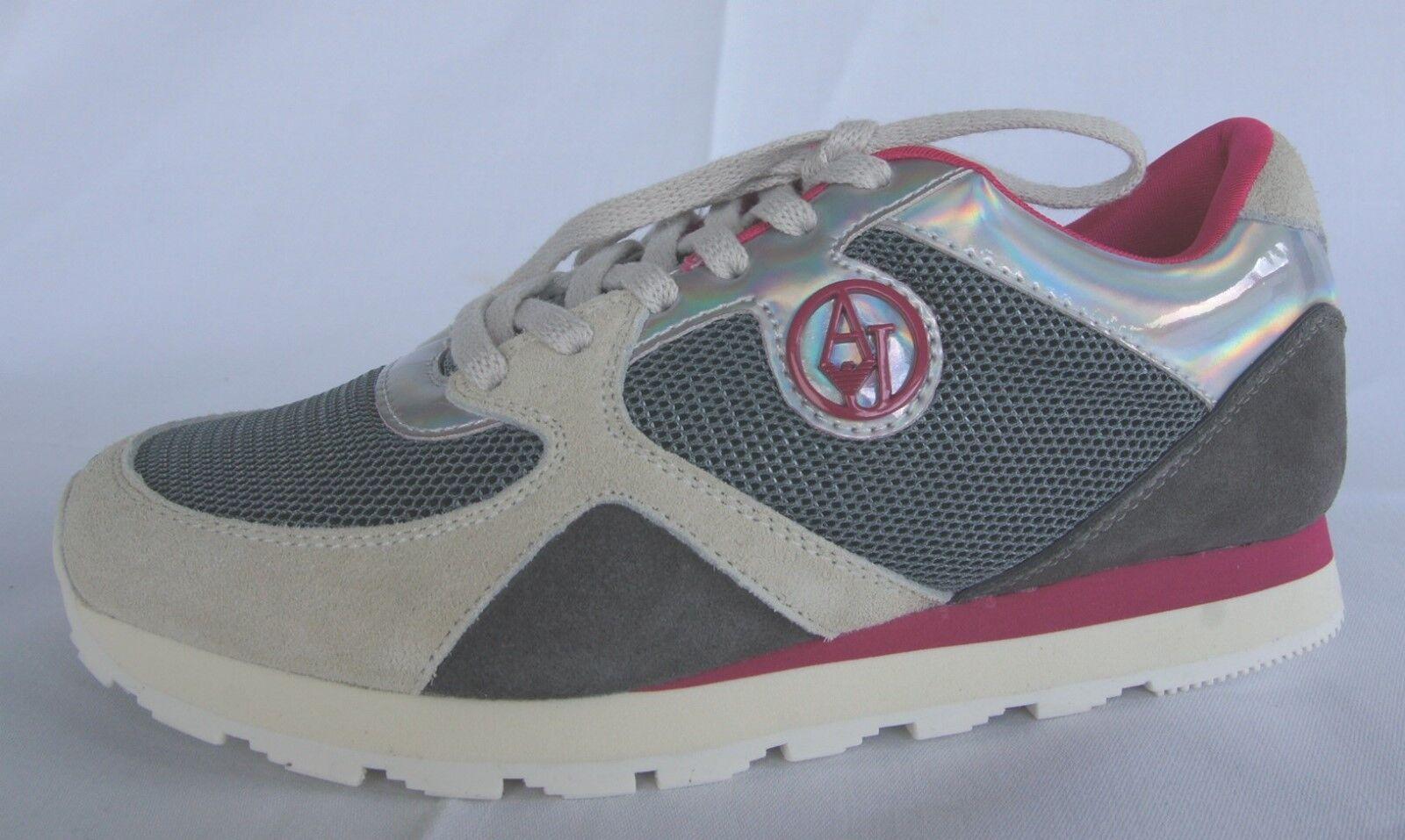 Armani Deportes Jeans Zapatillas 40 Talla Zapatos botas Deportes Armani gris Nuevo Antiguo 9fc449