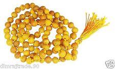 Haldi (Turmeric) mala 100% Natural & Original 108+1 beads for Japa RELIGIOUS EDH