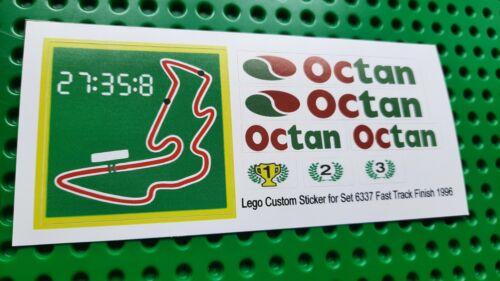 Ersatzset Aufkleber//Sticker Lego 6337 Classic Town Fast Track Finish  1996