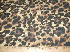 Animal Skins Print Quilt Fabric Leopard Brown Tan Spots BTY