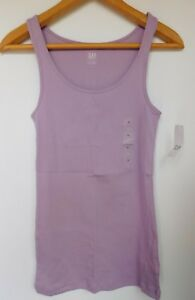 NWT-Gap-Women-039-s-Boyfriend-Fitted-Stretch-Tank-Top-Purple-Sizes-XS-S-M-New