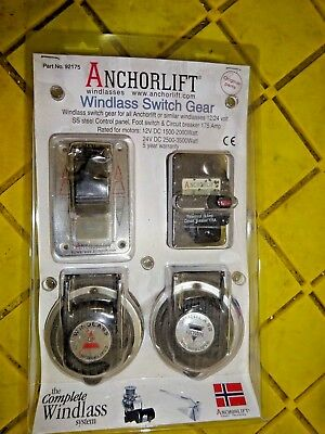 Anchorlift Combo Pack W Footswitch /& 175A  Breaker  92175 Toggle Switch