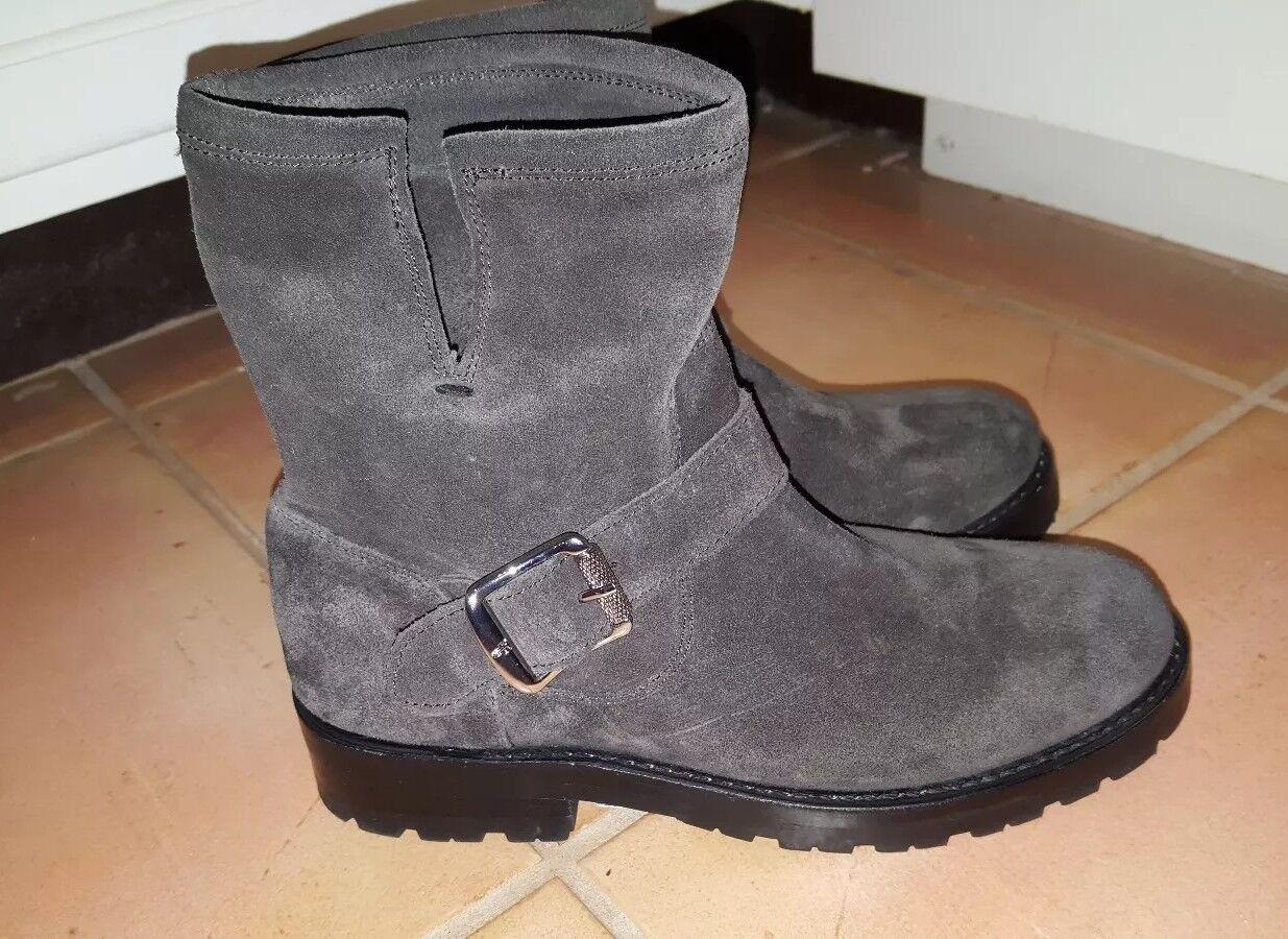 Frye 'Natalie Ingeniero' corto corto corto gris italiano botas De Gamuza gris Talla 6 4b0166