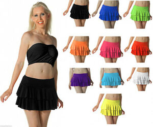 557b43bac52e4 Ladies Girls Neon Rara Mini Skirt Micro fancy dress Tutu All Colours ...