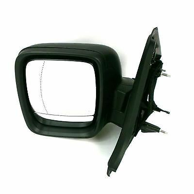 Renault Traffic Van II 2014 Onward Black LHS Passenger Electric Door Mirror  New