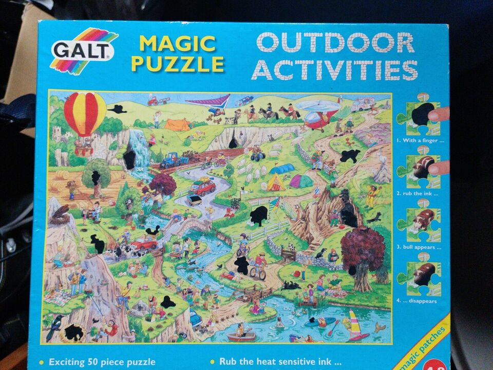 Magic puzzle outdoor activities, puslespil