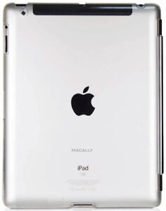 MACALLY-CLEAR-SMARTMATE-HARD-BACK-CASE-FOR-APPLE-iPAD-2-3-4-FOR-SMART-COVER