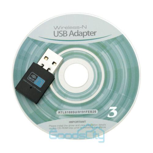 802.11n//g//b 150//300Mbps USB WiFi Wireless Adapter Network LAN Card w//Antenna USA