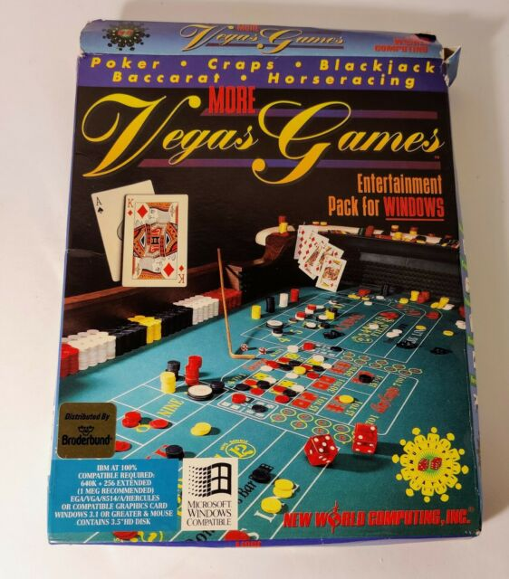More Vegas Games Entertainment Pack for Windows by New World Computing -VINTAGE