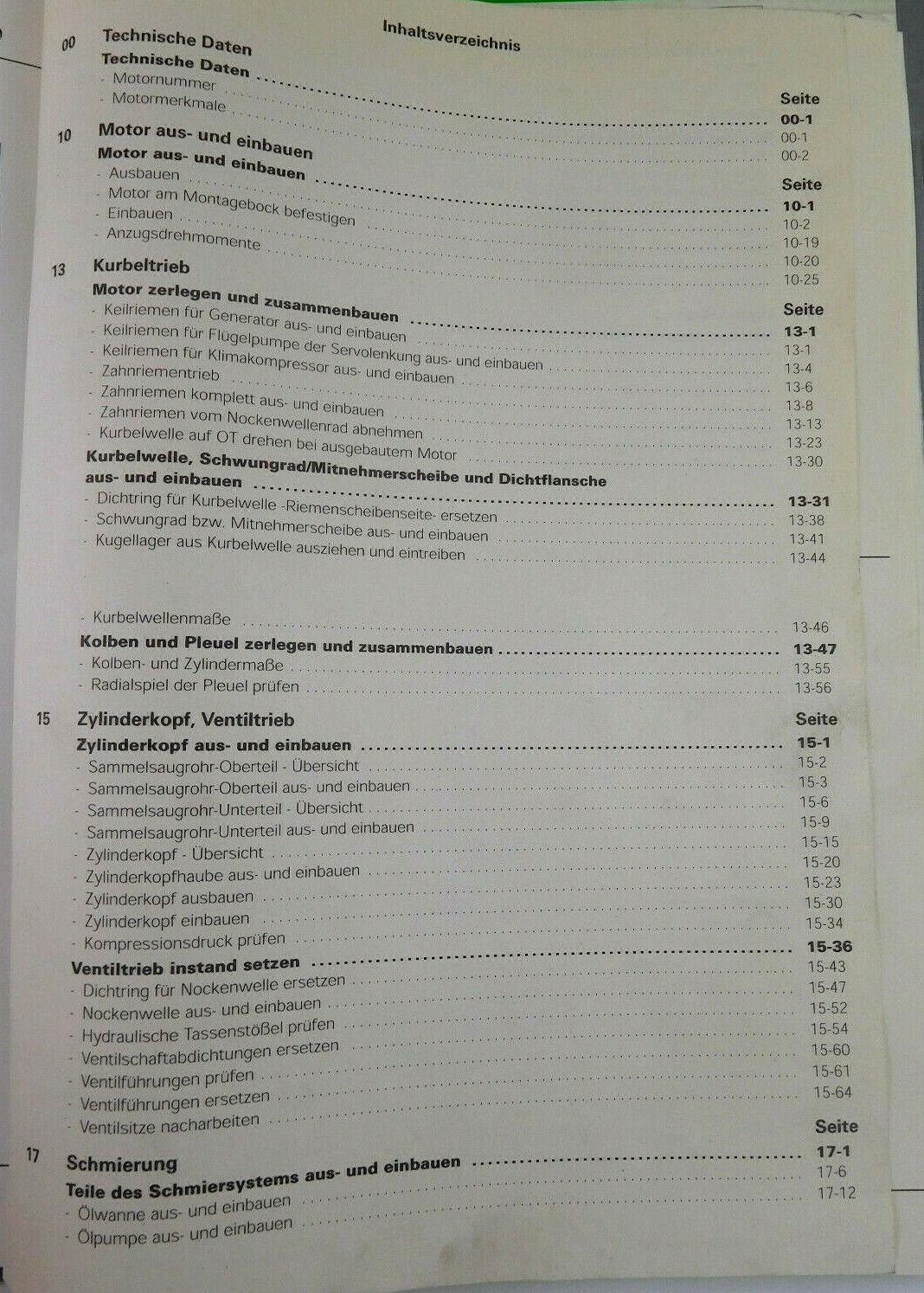 127 new products released Reparaturleitfaden Audi 80 B4 2