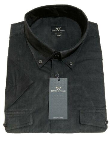 vert foncé 5XL à manches courtes Cordon shirt XLS Cotton Valley//métaphore 2XL
