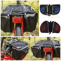 Cycling Bicycle Parts Rack Back Rear Seat Tail Carrier Trunk Double Pannier Bag+