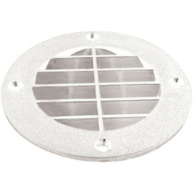 Marine Boat Seat Amp Compartment Louvered Vent Cover White
