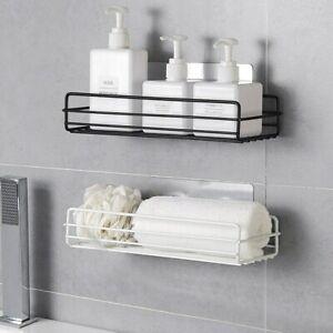 Kitchen-Bathroom-Shower-Shelf-Rack-Organizer-Storage-Holder-Wall-Mounted-Basket