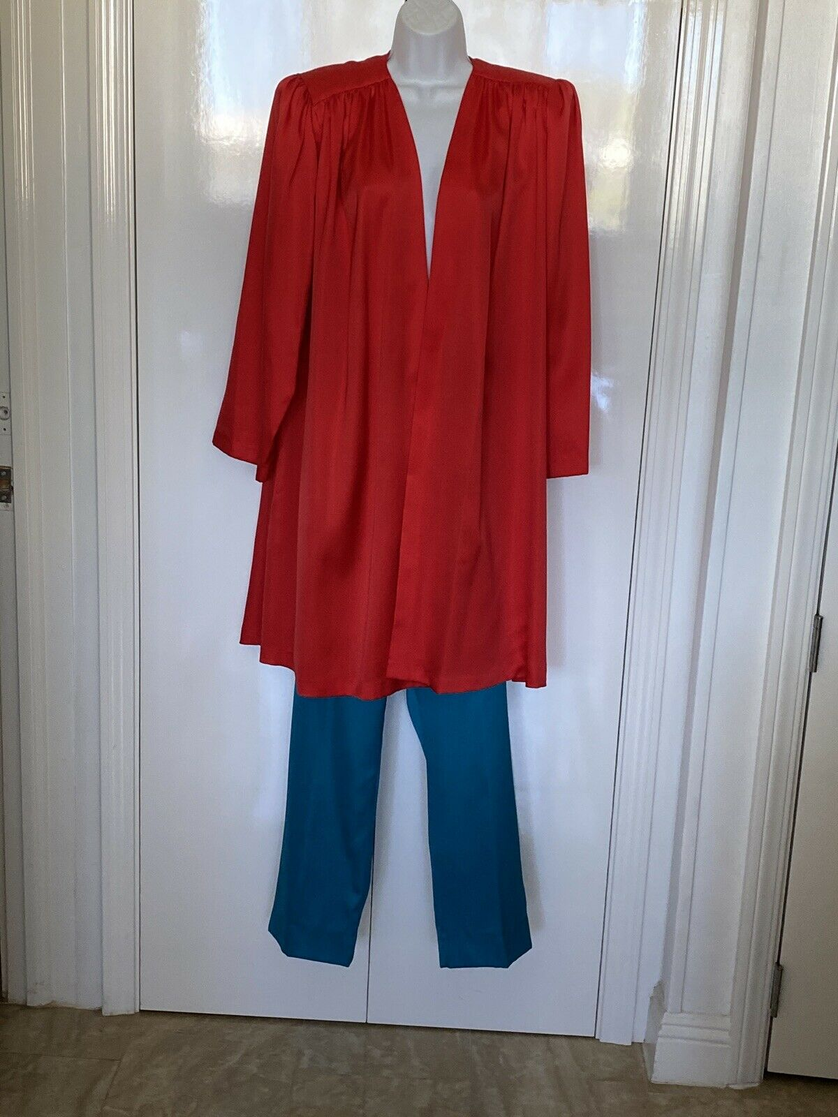 VINTAGE Lucie Ann Beverly Hills 3pc Silky Pants O… - image 3