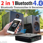 2-in-1 Wireless Bluetooth 4.0 Receiver Transmitter Stereo Music Audio Adapter