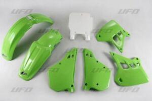 UFO KAWASAKI Motocross Evo KX 250 1992 Kit Plastique OEM Couleurs Blanc Vert