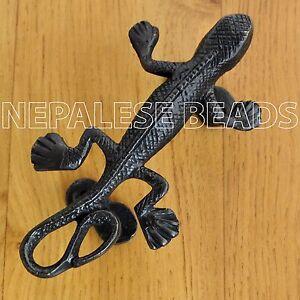 HD89 Tibetan Nepalese Handmade Antique Brass Lizard Door Handle from ...
