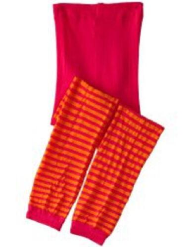 4-6y 6-8y ORANGE gift New Jefferies 1 pr STRIPES Footless Tights  2-4y