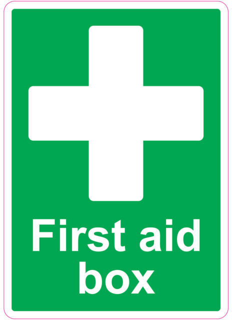 FIRST AID BOX health and safety signs stickers Medical 205x290mm