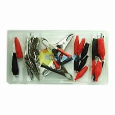 28pc Electrical Alligator Crocodile Clips Assortment Charging Connectors