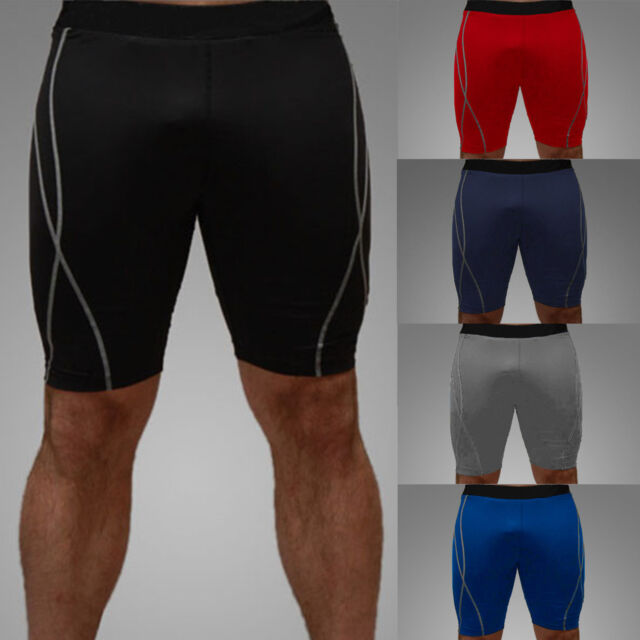Men Athletic Shorts Running Under Base Layer Gym Tight  Fitness Sport Boxer Pant