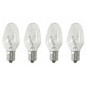 Sansai 4pk 7W/240V E14 Replacement Bulb Clear for Night Light/Lamps
