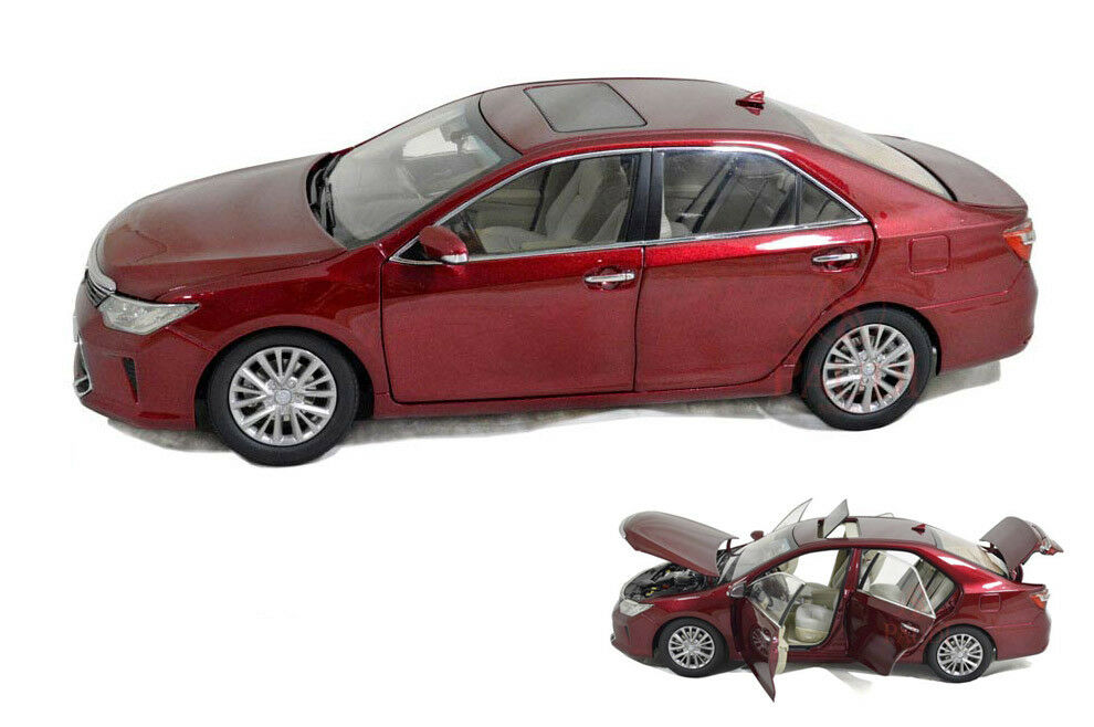 1 18 1 18 Scale Toyota Camry 2015 Red Diecast Model Car Paudimodel