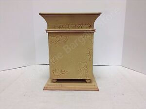 Image Is Loading Primitive Gold Red Crackle Painted Decorative Lidded Box