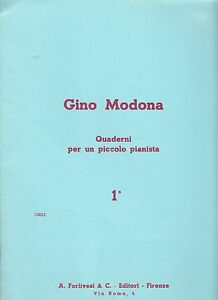 Für Junge Pianisten Für Klavier Quaderni Per Un Piccolo Pianista Liefern Gino Modona