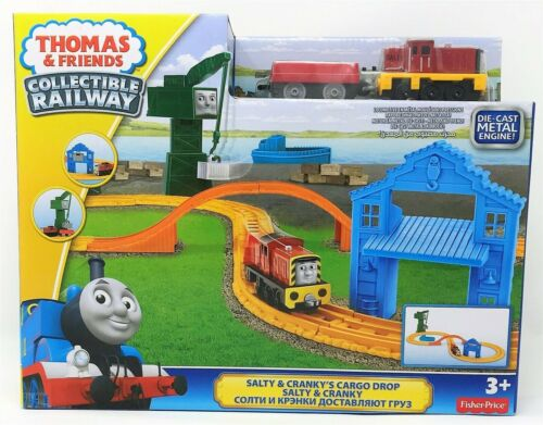Thomas the Tank Engine Salty and Cranky Cargo Drop Train Collectible Railway Toy