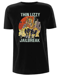 Thin-Lizzy-039-Jailbreak-Explosion-039-T-Shirt-NEW-amp-OFFICIAL
