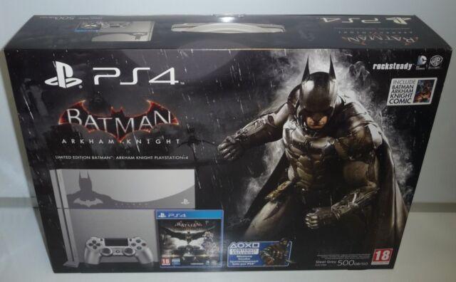 CONSOLE PS4 500GB LIMITED BATMAN ARKHAM KNIGHT STEEL GREY CUH-1116A NEW PAL RARE